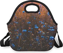 Purple Blossom Insulated Lunch Bag Lunch Boxes