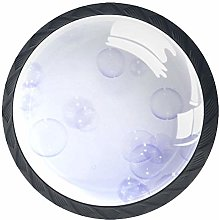 Purple Bubbles Solid Kitchen Cabinet Knobs Round