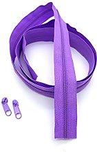 Purple Continuous Zip & Sliders No. 3 Zippers