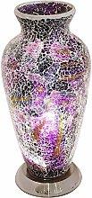 Purple Crackle Mosaic Glass Vintage Vase Table