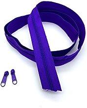 Purple Dark Continuous Zip & Sliders No. 3 Zippers