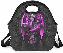 Purple Dragon and Cross Reusable Insulated Cooler