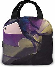 Purple Dragon Lunch Box Bags Food Storage Cooler