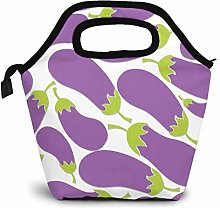 Purple Eggplant Lunch Bag Waterproof Insulated