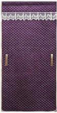 Purple Embossed Thermal Door Curtain