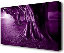 Purple Forest Forest Canvas Print Wall Art East