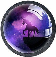 Purple Galaxy Unicorn Knob Handles Door Knobs