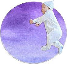 Purple gradient, Kids Nursery Rug Play Mat Round