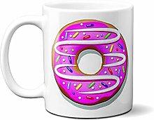 Purple Iced Ring Donut 15oz Ceramic Mug