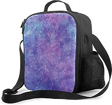 Purple Insulated Lunch Bag, Leakproof Flat Lunch