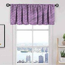 Purple Kitchen Curtain Valance,Valentine Animal
