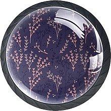 Purple Knobs for Dresser Drawers Decorative Knob