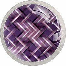 Purple Lattice 4PCS Drawer Knobs,Cabinet