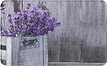 Purple Lavender Flower Welcome Door Mat Indoor