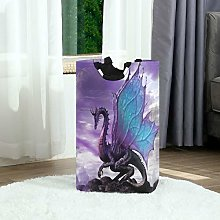 Purple Magic Dragon Laundry Hamper Laundry Basket