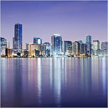 Purple Miami Beach Semi-Gloss Wallpaper Roll East