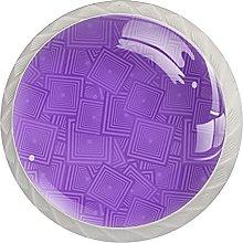 Purple, Modern Minimalist Printing Cupboard Handle