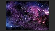 Purple Nebula 280cm x 400cm Wallpaper East Urban