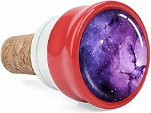Purple Nebula Wine Cork Wine Bottle Stoppers