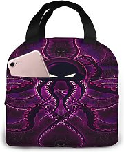 Purple Octopus 99 Portable Lunch Tote Bag Lunch