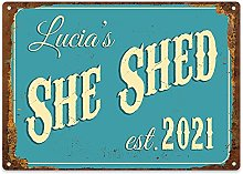 Purple Print House She Shed Sign Personalised -