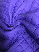 Purple Quilted Fabric Lining Jackets Material