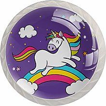 Purple Rainbow Unicorn White Crystal Drawer