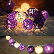 Purple Rattan Ball Fairy Christmas Lights Wedding