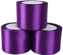 Purple Satin Ribbon - 50mm Wide - 5 Meter - GCS