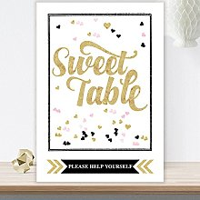 Purple Scrunch Glitzy Glam Sweet Table Sign With