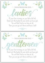 Purple Scrunch Ladies & Gents Butterfly Signs For