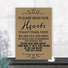 Purple Scrunch Please Sign Our Hearts Wedding Drop