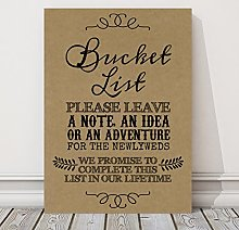 Purple Scrunch Rustic Bucket List Wedding