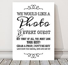Purple Scrunch Rustic Photo Booth Table Sign for
