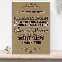 Purple Scrunch Rustic Wedding No Photos On Social