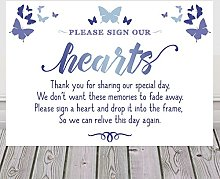 Purple Scrunch Sign Our Hearts Wedding Drop Top