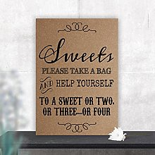 Purple Scrunch Vintage Sweet Table Sign for
