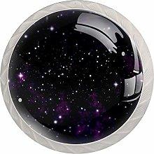 Purple Stars 4PCS Drawer Knobs,Cabinet