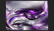 Purple Swirls 280cm x 400cm Wallpaper East Urban