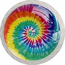Purple Unicorn 4 Pack Glass Drawer Knobs- Round