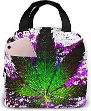 Purple Weed Lunch Bag Insulated Lunch Bag