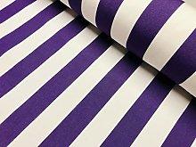 Purple & White Striped DRALON Outdoor Fabric