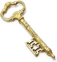 Purpledip Key Shaped Brass Bottle Opener, Vintage