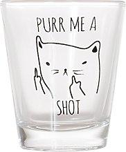 Purr Me a Shot - Funny Cat Gifts, Cat Shot Glass,