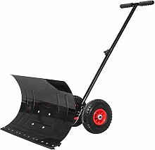 Push Snow Shovel, Snow Shovel with Wheels and