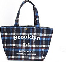PUSHER Brooklyn Thermal Lunch Bag, Fabric, Blue