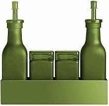 Pusher Single Colour Condiment Set, Green