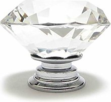 Pushka Home Large Clear Faceted Glass Crystal