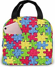 Puzzles Lunch Bag Reusable Lunch Box Lunch Cooler