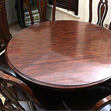 PVC Clear Tablecloth, Round Transparent Table